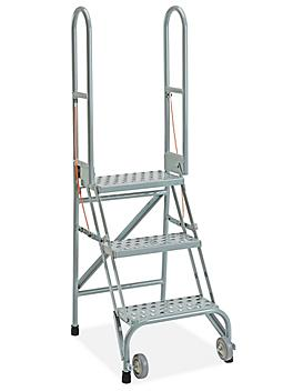 Step and Store Ladder - 3 Steps, Gray H-5605GR
