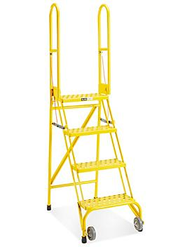 Step and Store Ladder - 4 Steps, Yellow H-5606Y