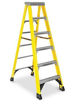 Heavy Duty Fiberglass Step Ladder - 6' H-5623
