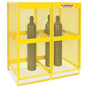 Vertical Gas Cylinder Locker - Assembled, 20 Cylinder Capacity H-5657
