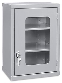 """Wall-Mount Cabinet - Clear-View, 18 x 14 x 27"""", Gray H-5697GR"""