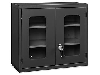 """Wall-Mount Cabinet - Clear-View, 30 x 14 x 27"""", Black H-5698BL"""
