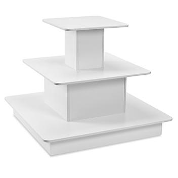 3 Tier Display Table - White H-5714W