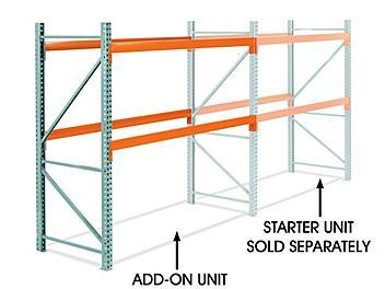 "Add-On Unit for 2 Shelf Pallet Rack - 96 x 42 x 96"" H-5715-ADD"