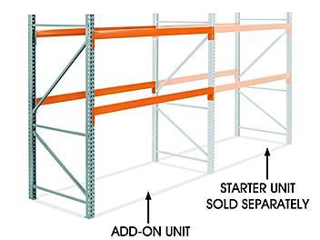 "Add-On Unit for 2 Shelf Pallet Rack - 96 x 48 x 96"" H-5716-ADD"