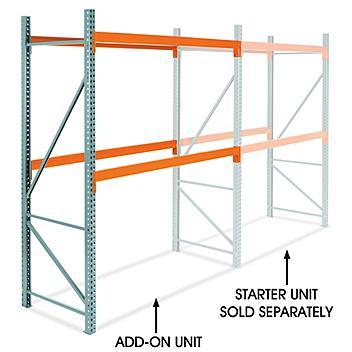 "Add-On Unit for 2 Shelf Pallet Rack - 96 x 42 x 120"" H-5717-ADD"