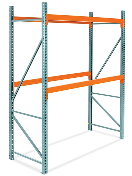 "2 Shelf Pallet Rack Starter Unit - 96 x 42 x 120"" H-5717"