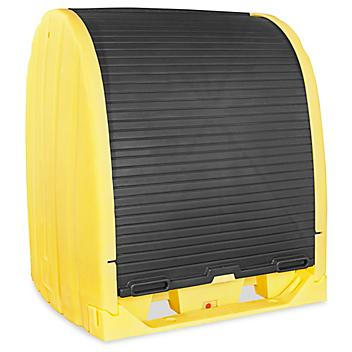 4-Drum Spill Containment Drum Shed - Yellow H-5737Y