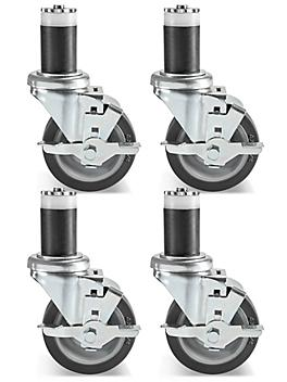 Casters for Stainless Steel Worktable - Set of 4 H-5746