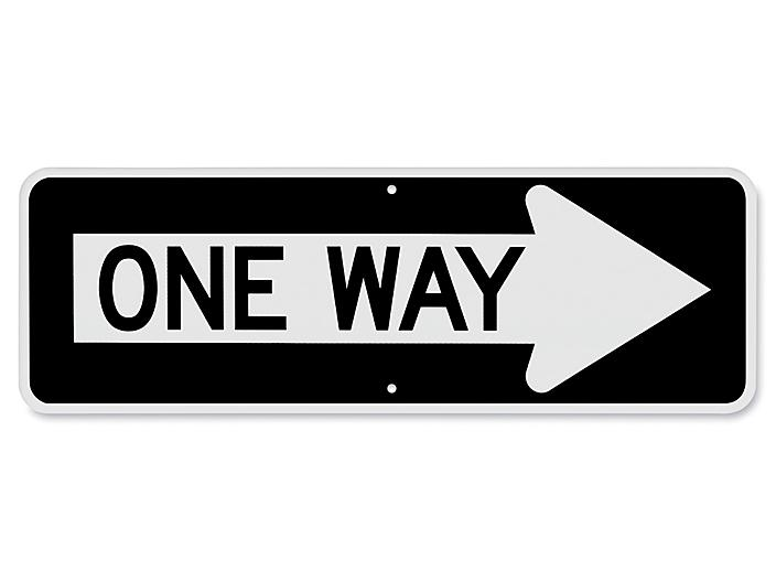"""""""One Way"""" with Right Arrow Sign - 36 x 12"""" H-5757"""