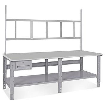 """Deluxe Workstation Starter Table - 96 x 36"""", Laminate Top H-5771-LAM"""