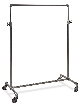 "Pipe Clothing Rack - Single Rail, 41"" H-5816"
