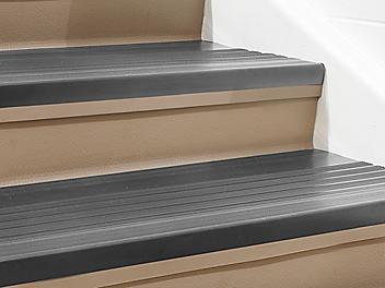"""Indoor Stair Treads - Vinyl, 36 x 12"""", Black H-5880BL"""