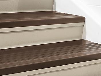 "Indoor Stair Treads - Vinyl, 36 x 12"", Brown H-5880BR"