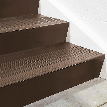 "Stair Tread Risers - Vinyl, 36 x 7"", Brown H-5882BR"