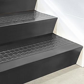 """Stair Tread Risers - Rubber, 36 x 7"""", Black H-5883BL"""