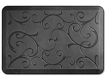 Decorative Checkout Mat - 2 x 3', Black H-5900BL