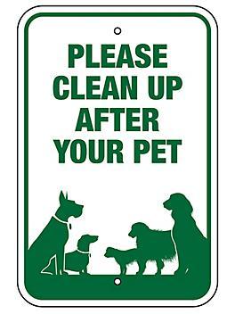 """Uline Dog Waste System Sign - 12 x 18"""" H-5942"""