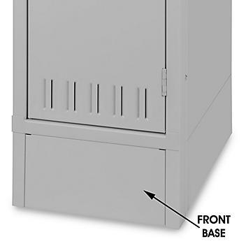 "Industrial Locker Base Plate - Front, 15"" Wide, Gray H-5989GR"
