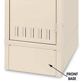"""Industrial Locker Base Plate - Front, 15"""" Wide, Tan H-5989T"""