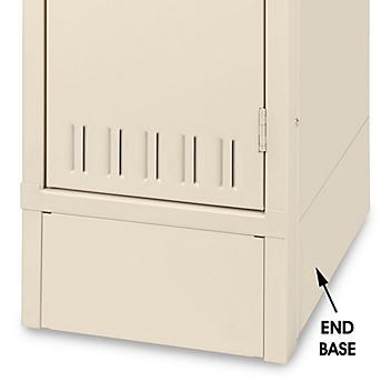"Industrial Locker Base Plate - End, 12"" Deep, Tan H-5990T"