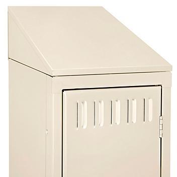"""Industrial Locker Sloping Top - 1 Wide, 15 x 18"""", Tan H-5991T"""