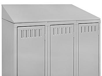 "Industrial Locker Sloping Top - 3 Wide, 36 x 12"", Gray H-5992GR"