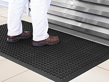 "Slip Resistant Mat - Black, 1/2"" thick, 3 x 20' H-6027"