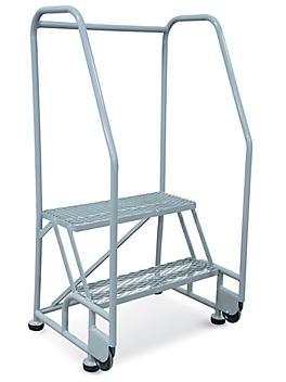 2 Step Tilt and Roll Ladder - Gray H-6069GR