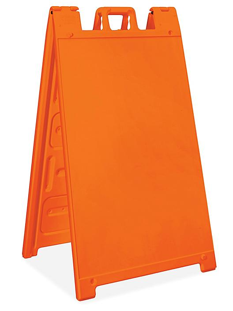 Plastic A-Frame Sign - Orange H-6104O