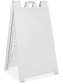 Plastic A-Frame Sign - White H-6104W
