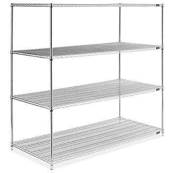 """Stainless Steel Wire Shelving Unit - 72 x 36 x 72"""" H-6144"""