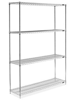 """Stainless Steel Wire Shelving Unit - 60 x 18 x 86"""" H-6150"""