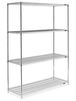 """Stainless Steel Wire Shelving Unit - 60 x 24 x 86"""" H-6154"""