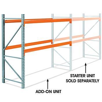 "Add-On Unit for 2 Shelf Pallet Rack - 108 x 42 x 96"" H-6187-ADD"