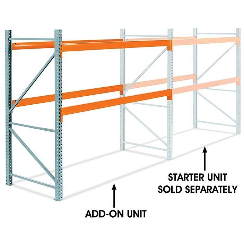 "Add-On Unit for 2 Shelf Pallet Rack - 108 x 48 x 96"" H-6188-ADD"