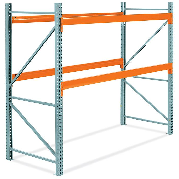 "2 Shelf Pallet Rack Starter Unit - 108 x 48 x 96"" H-6188"