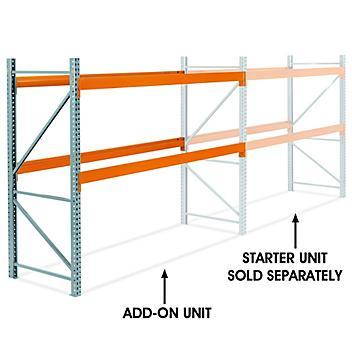 "Add-On Unit for 2 Shelf Pallet Rack - 120 x 42 x 96"" H-6189-ADD"