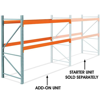 "Add-On Unit for 2 Shelf Pallet Rack - 120 x 48 x 96"" H-6190-ADD"