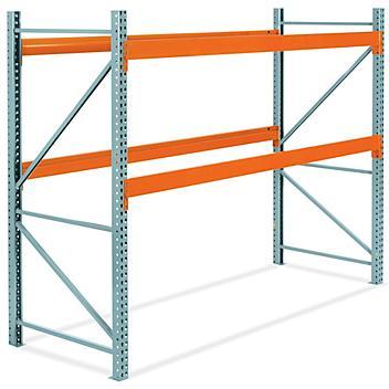 "2 Shelf Pallet Rack Starter Unit - 120 x 48 x 96"" H-6190"