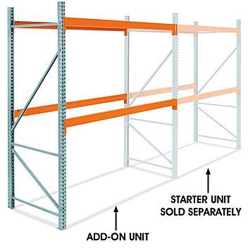 "Add-On Unit for 2 Shelf Pallet Rack - 108 x 48 x 120"" H-6192-ADD"
