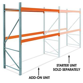 "Add-On Unit for 2 Shelf Pallet Rack - 120 x 48 x 120"" H-6194-ADD"