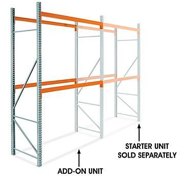 "Add-On Unit for 2 Shelf Pallet Rack - 96 x 42 x 144"" H-6195-ADD"