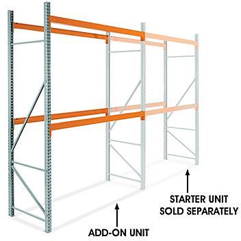 "Add-On Unit for 2 Shelf Pallet Rack - 108 x 42 x 144"" H-6197-ADD"