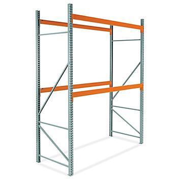 "2 Shelf Pallet Rack Starter Unit - 108 x 48 x 144"" H-6198"