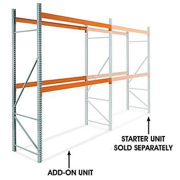 "Add-On Unit for 2 Shelf Pallet Rack - 120 x 42 x 144"" H-6199-ADD"