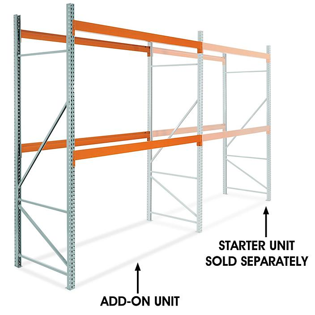 "Add-On Unit for 2 Shelf Pallet Rack - 120 x 48 x 144"" H-6200-ADD"