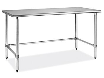 """Standard Stainless Steel Worktable without Bottom Shelf - 60 x 30"""" H-6257"""