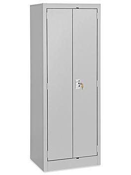 "Slim Storage Cabinet - 24 x 18 x 66"", Unassembled, Light Gray H-6317GR"