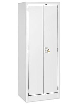 """Slim Storage Cabinet - 24 x 18 x 66"""", Unassembled, White H-6317W"""